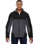 Ash City - North End Men's Compass Colorblock Three-Layer Fleece Bonded Soft Shell Jacket Fossil Grey