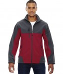 Ash City - North End Men's Compass Colorblock Three-Layer Fleece Bonded Soft Shell Jacket Molten Red