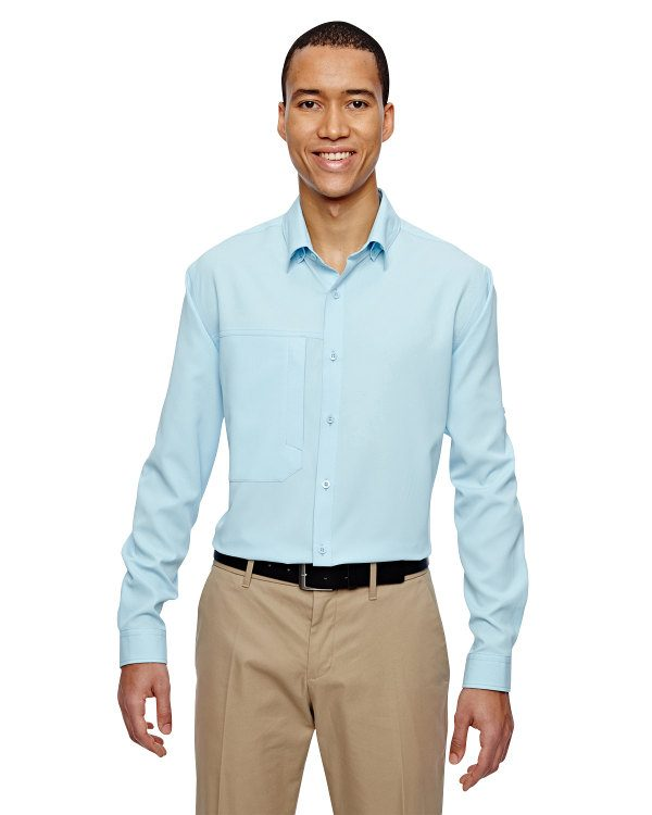 Ash City - North End Men's Excursion Concourse Performance Shirt Crystal Blue