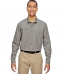 Ash City - North End Men's Excursion F.B.C. Textured Performance Shirt Dark Oakmoss