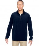 Ash City - North End Men's Excursion Trail Fabric-Block Fleece Half-Zip Navy