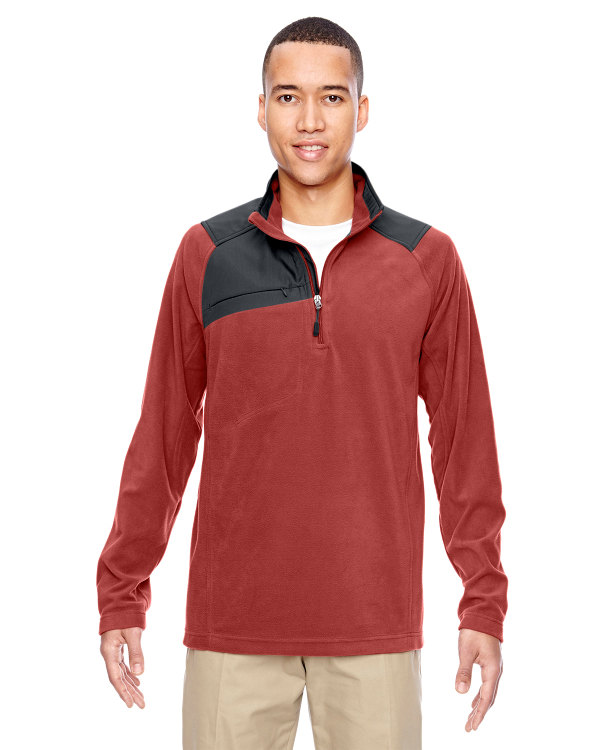 ash-city-north-end-mens-excursion-trail-fabric-block-fleece-half-zip-rust