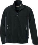 Ash City - North End MEN'S FLEECE BONDED TO BRUSHED MESH FULL-ZIP JACKET Black