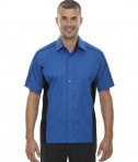 Ash City - North End Men's Fuse Colorblock Twill Shirt True Royal