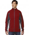 Ash City - North End Men's Generate Textured Fleece Jacket Classic Red