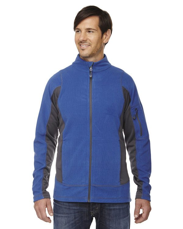 Ash City - North End Men's Generate Textured Fleece Jacket Nautical Blue