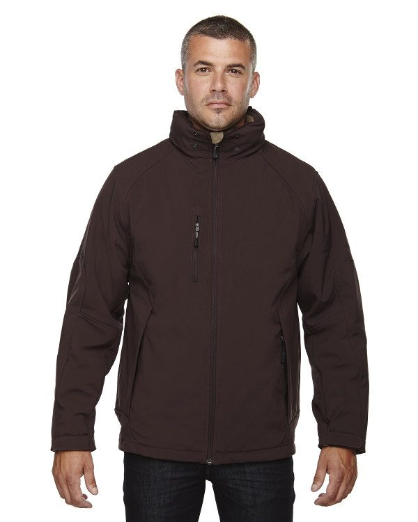Ash City - North End Men's Glacier Insulated Three-Layer Fleece Bonded Soft Shell Jacket with Detachable Hood Dark Chocolate