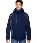 Ash City - North End Men's Height 3-in-1 Jacket with Insulated Liner Night Front