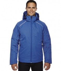 Ash City - North End Men's Linear Insulated Jacket with Print Nautical Blue