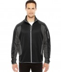 Ash City - North End Men's Motion Interactive ColorBlock Performance Fleece Jacket Black/DK GRP