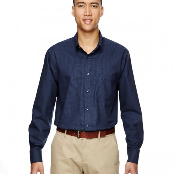 ash-city-north-end-mens-paramount-wrinkle-resistant-cotton-blend-twill-checkered-shirt-classic-navy