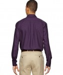 Ash City - North End Men's Paramount Wrinkle-Resistant Cotton Blend Twill Checkered Shirt Back