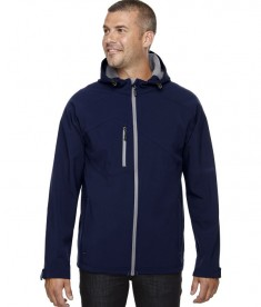 Ash City - North End Men's Prospect Two-Layer Fleece Bonded Soft Shell Hooded Jacket Classic Navy