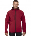Ash City - North End Men's Prospect Two-Layer Fleece Bonded Soft Shell Hooded Jacket Molten Red