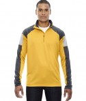 Ash City - North End Men's Quick Performance Interlock Half-Zip Top Campus Gold