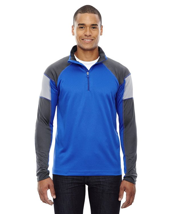 Ash City - North End Men's Quick Performance Interlock Half-Zip Top True Royal