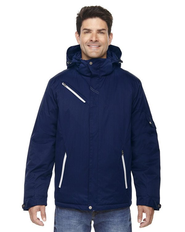 Ash City - North End Men's Rivet Textured Twill Insulated Jacket Night