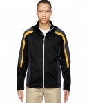 Ash City - North End Men's Strike Colorblock Fleece Jacket Black/Campus Gold