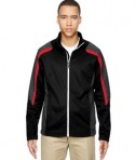 Ash City - North End Men's Strike Colorblock Fleece Jacket Black CL Red