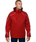 Ash City - North End Men's Tall Angle 3-in-1 Jacket with Bonded Fleece Liner Classic Red Front
