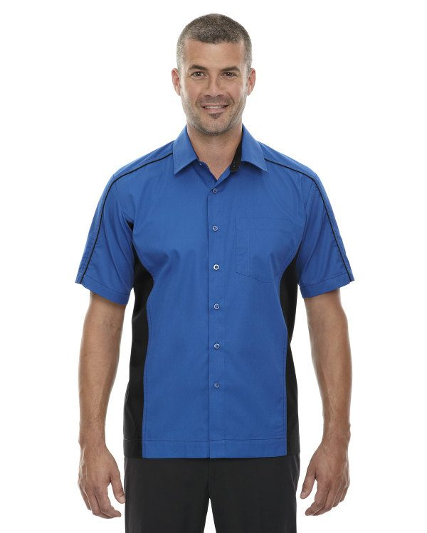 Ash City - North End Men's Tall Fuse Colorblock Twill Shirt True Royal
