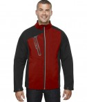 Ash City - North End Men's Terrain Colorblock Soft Shell with Embossed Print Classic Red