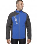 Ash City - North End Men's Terrain Colorblock Soft Shell with Embossed Print Nautical Blue
