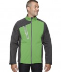 Ash City - North End Men's Terrain Colorblock Soft Shell with Embossed Print Valley Green