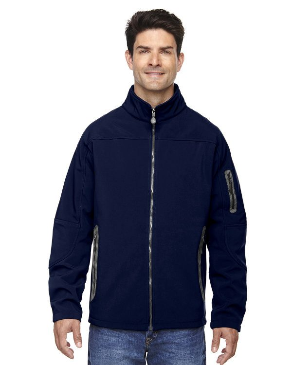 Ash City - North End Men's Three-Layer Fleece Bonded Soft Shell Technical Jacket Classic Navy