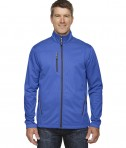 Ash City - North End Men's Trace Printed Fleece Jacket Nautical Blue