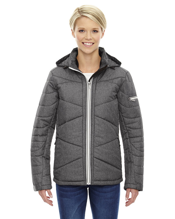 ash-city-north-end-sport-blue-ladies-avant-tech-mélange-insulated-jacket-with-heat-reflect-technology-carbon-heather