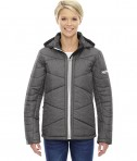 Ash City - North End Sport Blue Ladies' Avant Tech Mélange Insulated Jacket with Heat Reflect Technology Carbon Heather