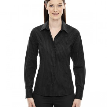 ash-city-north-end-sport-blue-ladies-boardwalk-wrinkle-free-two-ply-80s-cotton-striped-tape-shirt-black