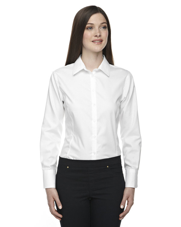 Ash city north end sport blue ladies 39 boulevard wrinkle for Wrinkle free shirts for women
