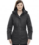 Ash City - North End Sport Blue Ladies' Enroute Textured Insulated Jacket with Heat Reflect Technology Carbon Heather