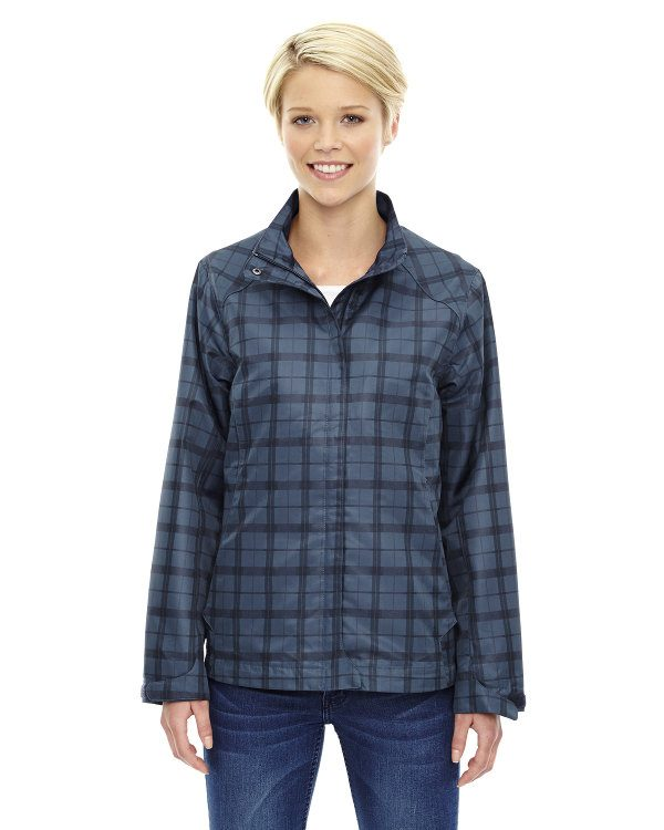 Ash City - North End Sport Blue Ladies' Locale Lightweight City Plaid Jacket Night