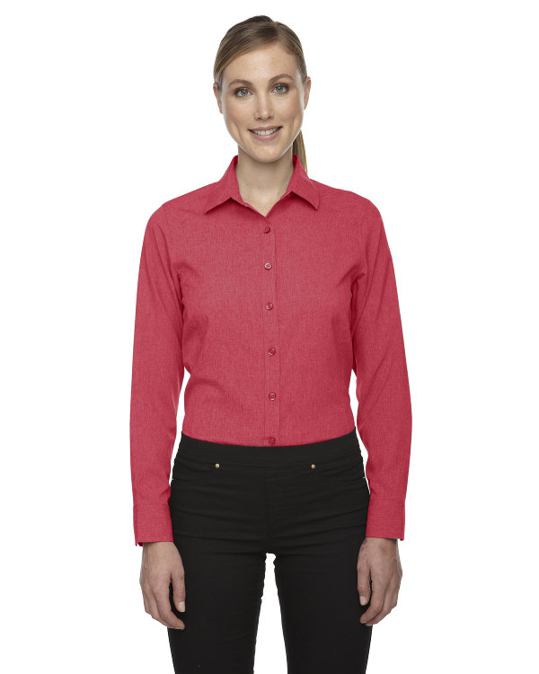 ash-city-north-end-sport-blue-ladies-mélange-performance-shirt-coral-heather