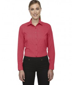 Ash City - North End Sport Blue Ladies' Mélange Performance Shirt Coral Heather