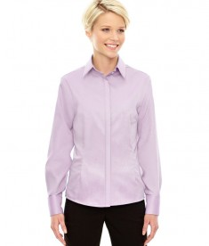 Ash City - North End Sport Blue Ladies' Refine Wrinkle-Free Two-Ply 80's Cotton Royal Oxford Dobby Taped Shirt Orchid Purple