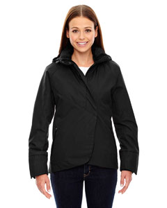 Ash City - North End Sport Blue Ladies' Skyline City Twill Insulated Jacket with Heat Reflect Technology Black
