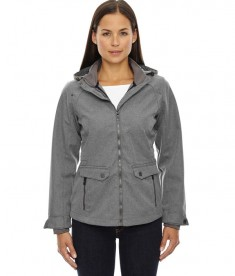 Ash City - North End Sport Blue Ladies' Uptown Three-Layer Light Bonded City Textured Soft Shell Jacket City Grey