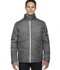 Ash City - North End Sport Blue Men's Avant Tech Mélange Insulated Jacket with Heat Reflect Technology Carbon Heather