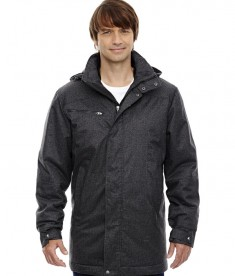 Ash City - North End Sport Blue Men's Enroute Textured Insulated Jacket with Heat Reflect Technology Black