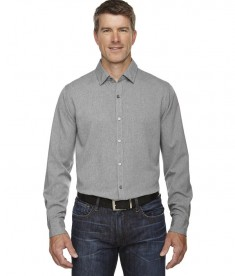 Ash City - North End Sport Blue Men's Mélange Performance Shirt LT Heather