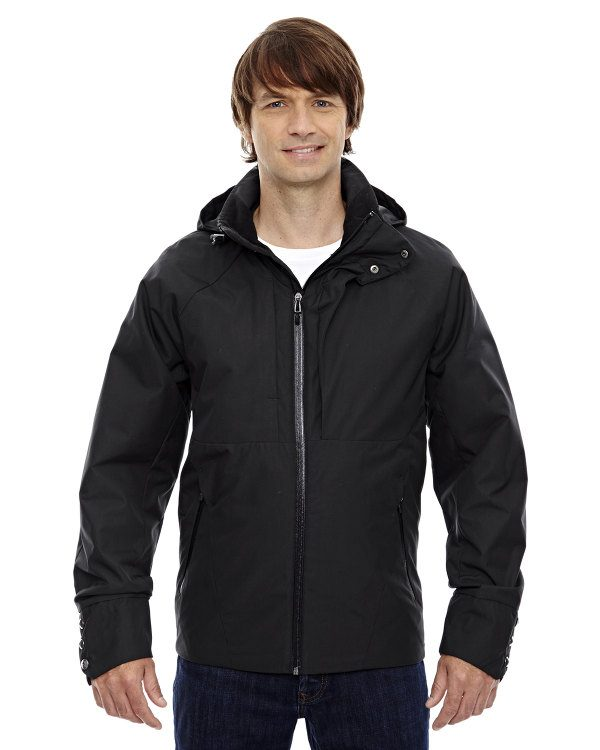 Ash City - North End Sport Blue Men's Skyline City Twill Insulated Jacket with Heat Reflect Technology Black