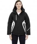 Ash City - North End Sport Red Ladies' Apex Seam-Sealed Insulated Jacket Black