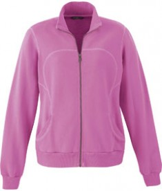 Ash City - North End Sport Red Ladies' Cotton Polyester Fleece Zip Jacket Dark Pnk