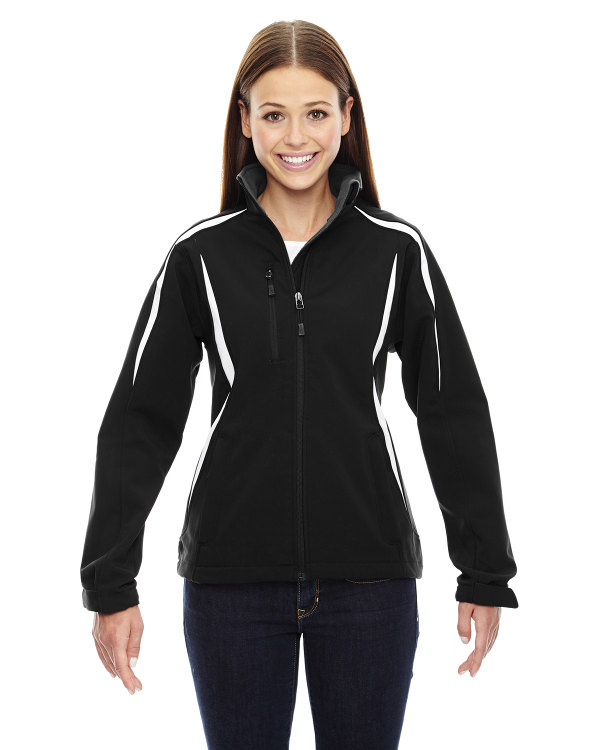 ash-city-north-end-sport-red-ladies-enzo-colorblocked-three-layer-fleece-bonded-soft-shell-jacket-black