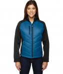 Ash City - North End Sport Red Ladies' Epic Insulated Hybrid Bonded Fleece Jacket Olympic Blue
