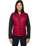 Ash City - North End Sport Red Ladies' Epic Insulated Hybrid Bonded Fleece Jacket Olympic Red